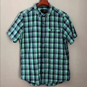 Men's Hurley Button Up Plaid Top M